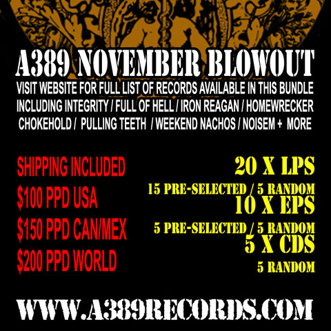 A389 FALL BLOWOUT ROUND #1: 20 LPs |10 EPs | 5 CDs For $100