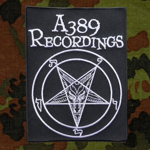 A389 RECORDINGS Pentagram Logo (Patch)