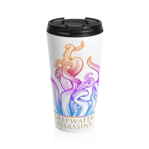 Rainbow Kraken Stainless Steel Travel Mug
