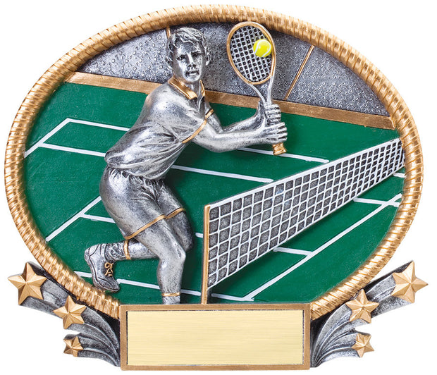 Tennis Male 3D Resin Plate