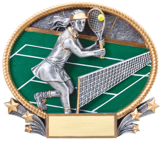 Tennis Female 3D Resin Plate
