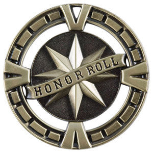 2.5 inch medallion in gold Honor Roll