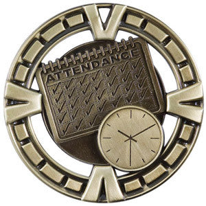 2.5 inch medallion in gold Attendance