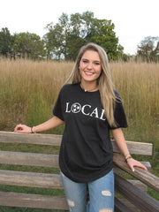 Black Local Tri-Star Comfort Colors Tee - Unisex