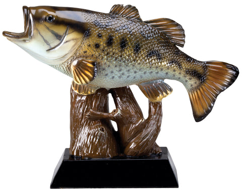 Mounted Bass Fish Trophy