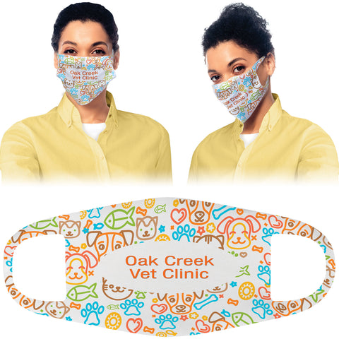 Single Layer Polyester Customized Face Mask Customize