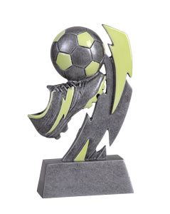 Glow in the dark soccer trophy