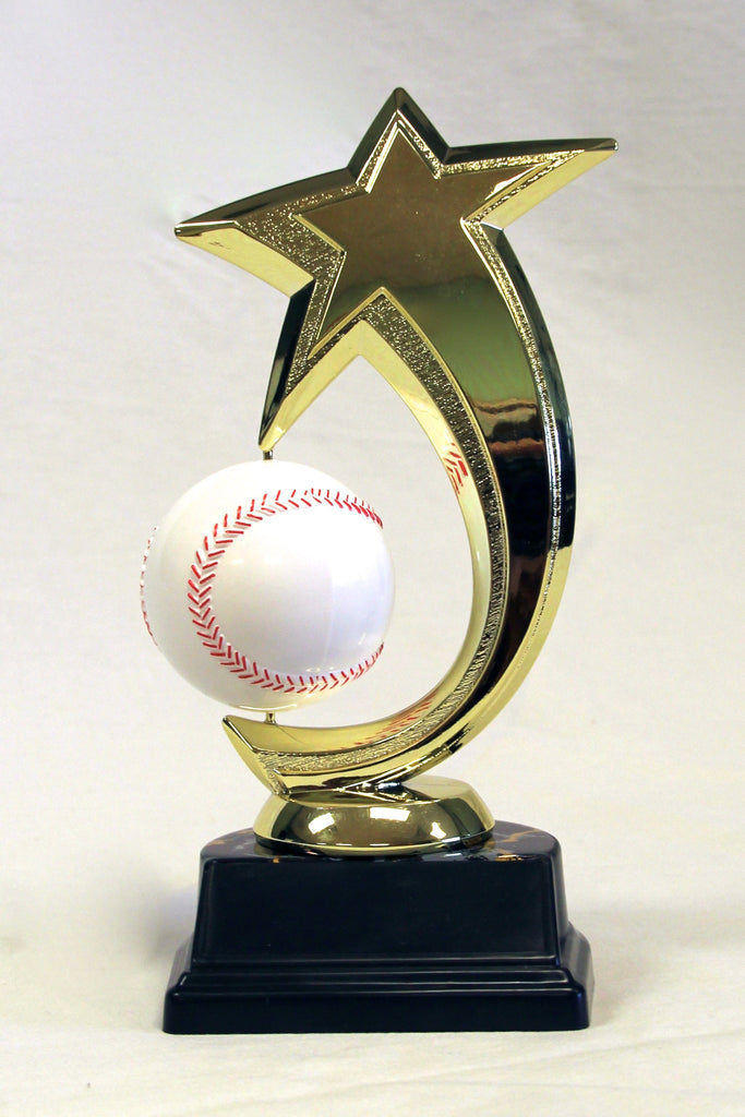 Spinning Baseball Trophy Star