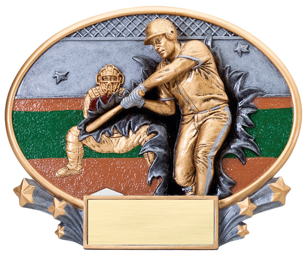 Baseball 3D Resin Large Trophy
