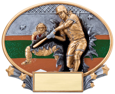 Softball Large Resin Plate Trophy