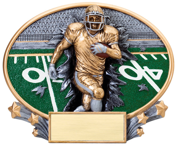Football 3D Resin Plate Trophy