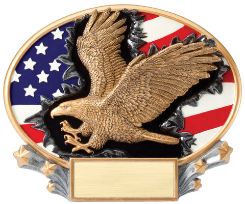 Eagle 3D Resin Plate Trophy