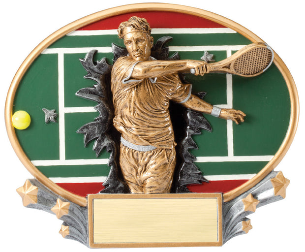 Male Tennis 3D Resin Plate
