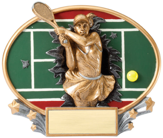 Female Tennis 3D Trophy