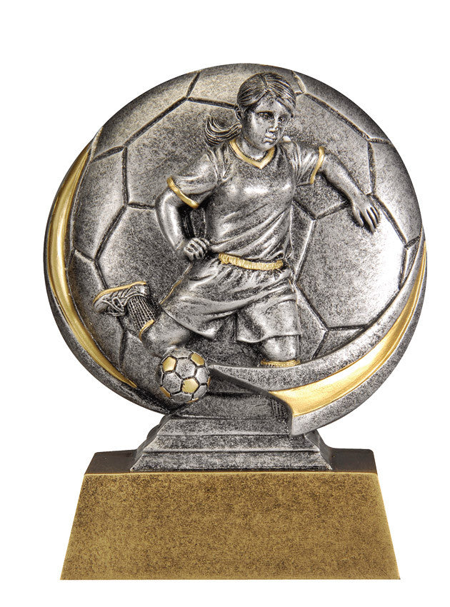 Female Soccer 3D Resin