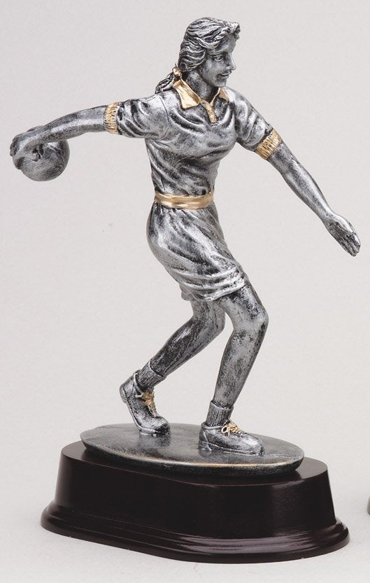 The Bowling Resin Resin Sculpture-Female
