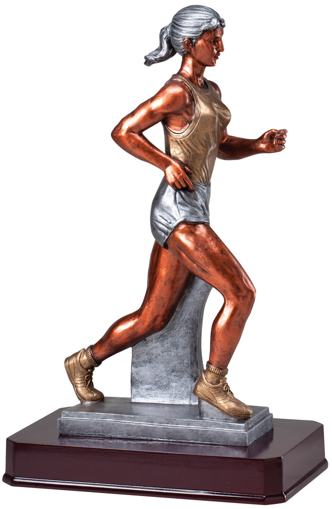 Track Female Large Resin Statue