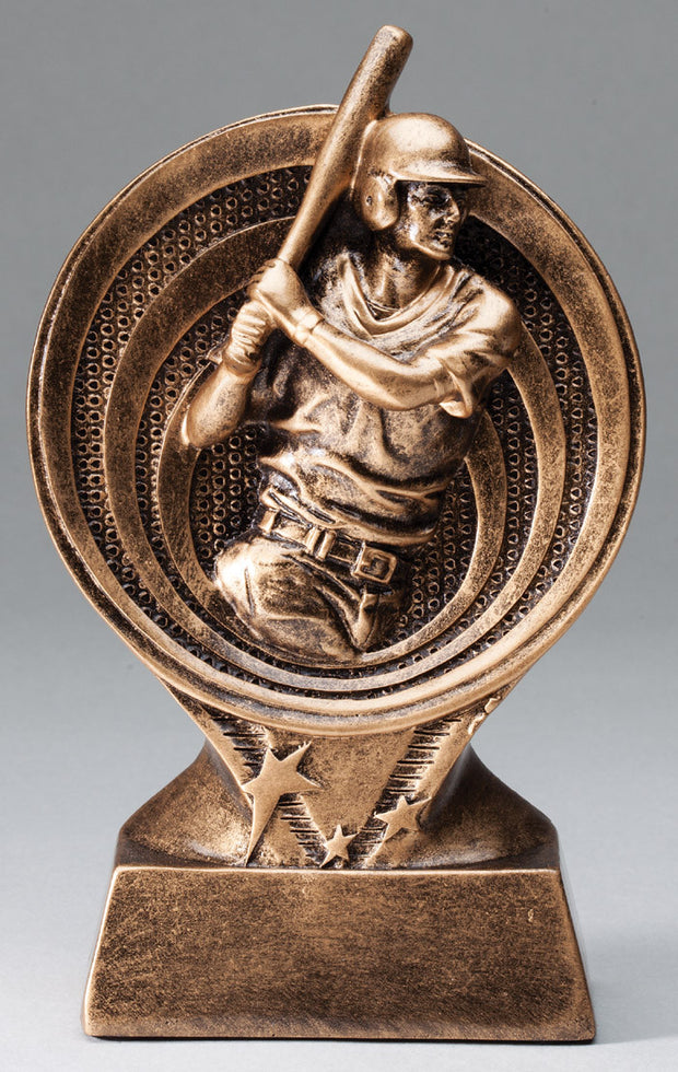 Male Baseball Saturn Resin Trophy
