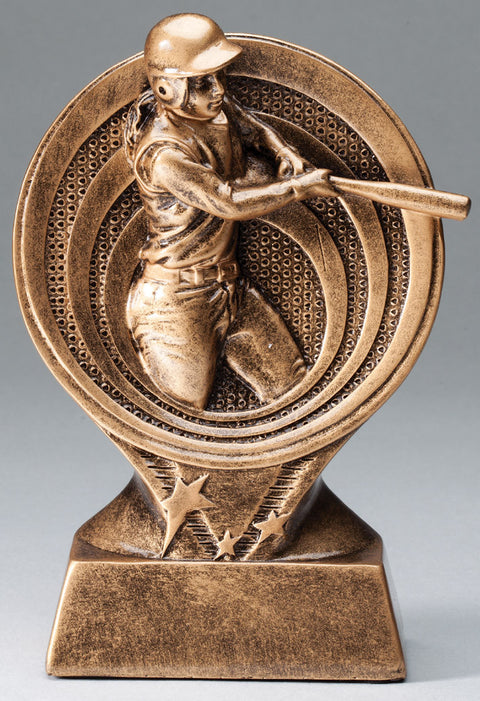 Female Softball Saturn Resin Trophy