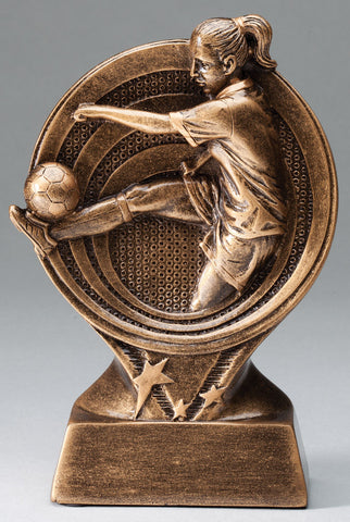 Female Soccer Saturn Series Trophy