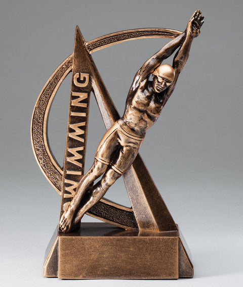 Male Swimming Ultra Action Sport Trophy