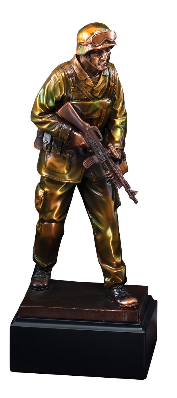 American Hero Military Standing Soldier Sculpture