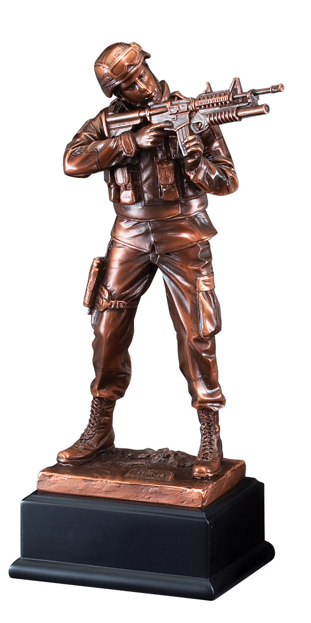 American Hero Army Standing Soldier Sculpture