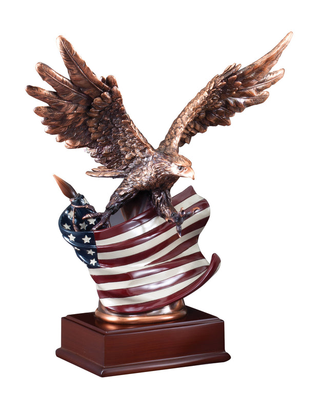 American Eagle Flag Flight 15.5 inches