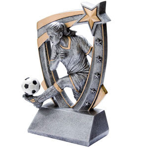 Top Star Female Soccer Trophy