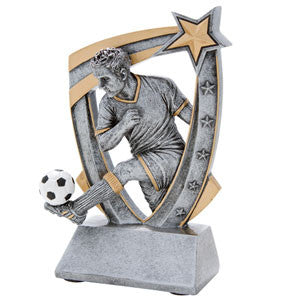 Male Soccer Top Star 3D Trophy
