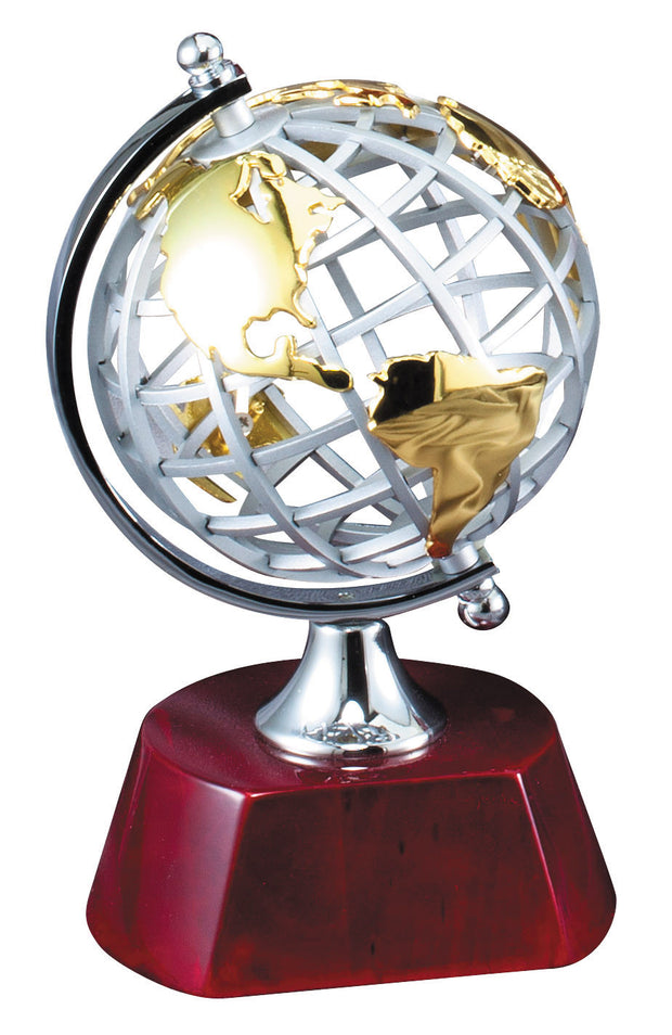 Globe Recognition Award 7.5 inches tall