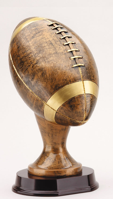 Football Resin Sculpture 13 inches tall