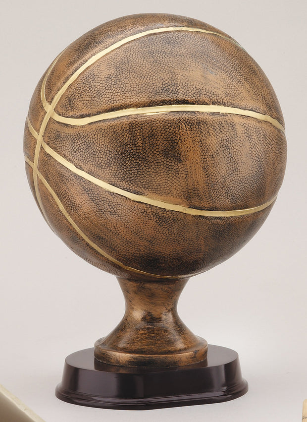 Basketball Resin Sculpture  13 inches tall