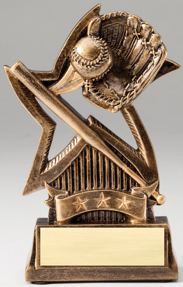 Sweeping Star Baseball Trophy