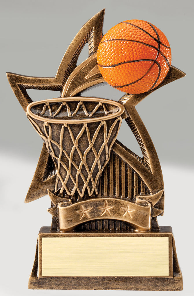 Sweeping Star Basketball Trophy