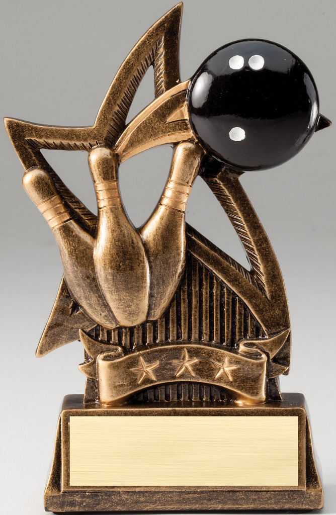 Sweeping Star Bowling Trophy