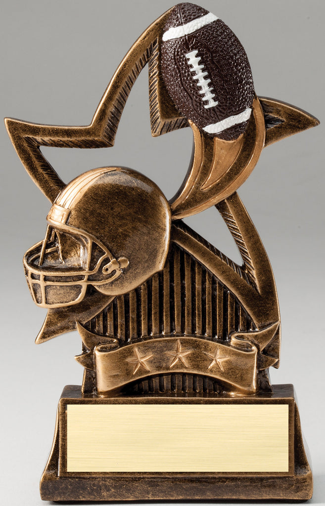 Sweeping Star Football Trophy