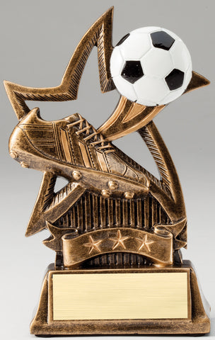 Sweeping Star Soccer Trophy