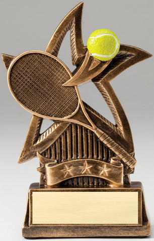 Sweeping Star Tennis Trophy