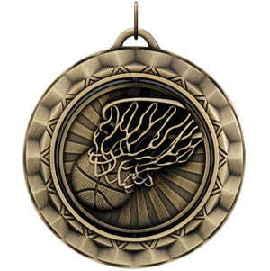 Basketball Spinner Medallion Gold