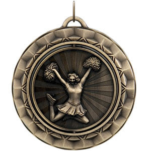 Cheerleading Spinner Medallion Gold