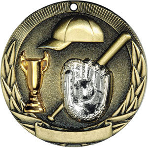 Full Victory Cap Glove and Cup Medallion Gold