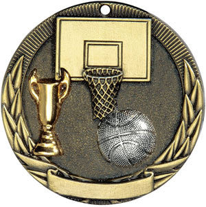 Full Victory Basketball Medallion Gold