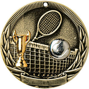Full Victory Tennis Medallion Gold
