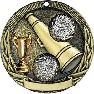 Full Victory Cheerleading Medallion Gold