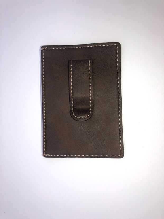 Leatherette Wallet Clip