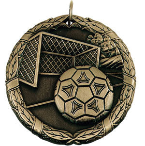 Ball in the Net Medallion Soccer Gold