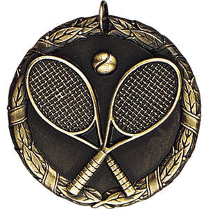 Cross Rackets Tennis Medallions Gold