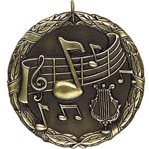 Music Note Medallion Gold