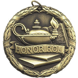 Honor Roll with Lamp of Knowledge Medallion in Gold